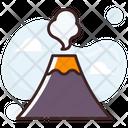 Volcano Erupting Nature Icon