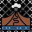 Volcano Disaster Eruption Icon