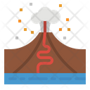 Volcano Disaster Eruption Icon