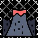Volcano Mountain Danger Icon