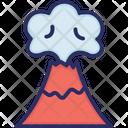 Volcano Weather Eruption Icon