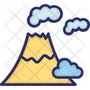 Volcano Weather Clouds Icon