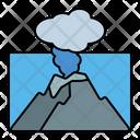 Volcano Eruption Sea Icon