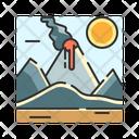 X Volcano Icon