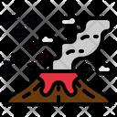 Volcano Lava Disaster Icon