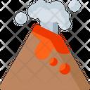 Volcano Eruption Nature Icon