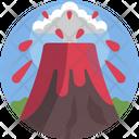 Nature Volcano Magma Icon