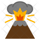 Volcano Disaster Nature Eruption Lava Icon