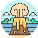 Volcano Eruption Mountain Icon