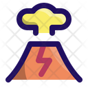 Volcano Explosion Disaster Icon