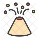 Volcano Mountain Erupt Icon