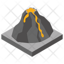 Volcano Volcanic Eruption Natural Disaster Icon