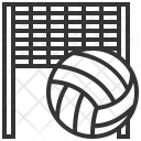 Volleyball Ball Net Icon