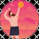 Volleyball Beach Ball Beach Person Icon
