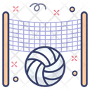 Volleyball Football Sports Accessory Icon