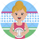 Sports Volleyball Net Icon