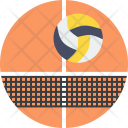 Volleyball Court Net Icon