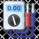 Voltmeter Ammeter Digital Device Icon