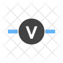 Voltmeter Circuit Icon