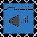 Sound Volume Webpage Icon