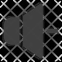 Volume Down Audio Multimedia Icon