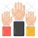 Raise Hands Volunteer Hands Up Icon