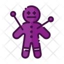 Voodoo Doll Black Magic Scary Icon