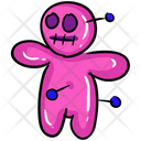 Evil Doll Black Magic Voodoo Doll Icon