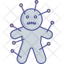 Voodoo Doll Scary Doll Magic Concept Icon