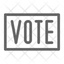 Vote Sign Politic Icon