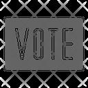 Vote Sign Politic Icon