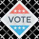 Vote Election Badge Icon
