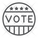 Vote Badge Democratic Icon