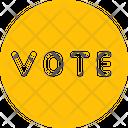 Vote Vote Badge Voting Icon