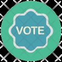 Vote Badge Sticker Icon