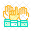 Hand Voting Color Icon