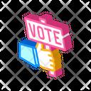 Hand Holding Vote Icon