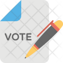 Ballot Paper Voting Icon