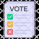 Vote Document Vote Paper Ballot Paper Icon
