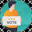 Vote Publicity Advertisement Candidate Comparison Icon