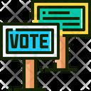 Vote Vote Board Vote Sign Icon