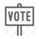 Vote Sign Campaign Icon