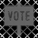 Vote Sign Campaign Icon