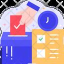 Voting Ballot Box Voting Time Icon