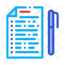 Voting Sheet Pen Icon