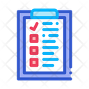 Voting Sheet Checklist Icon
