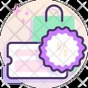 Voucher Discount Shopping Icon