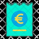 Euro Coupon Discount Icon