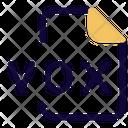 Vox File Audio File Audio Format Icon