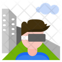 Virtual Reality Technology Augmented Reality Icon